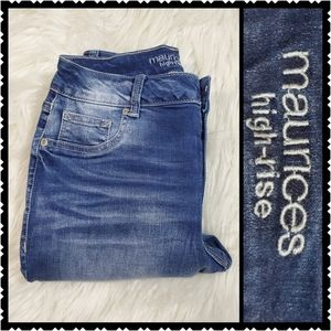 Maurices size 5 skinny high rise jeans